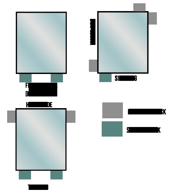 glazing of frames