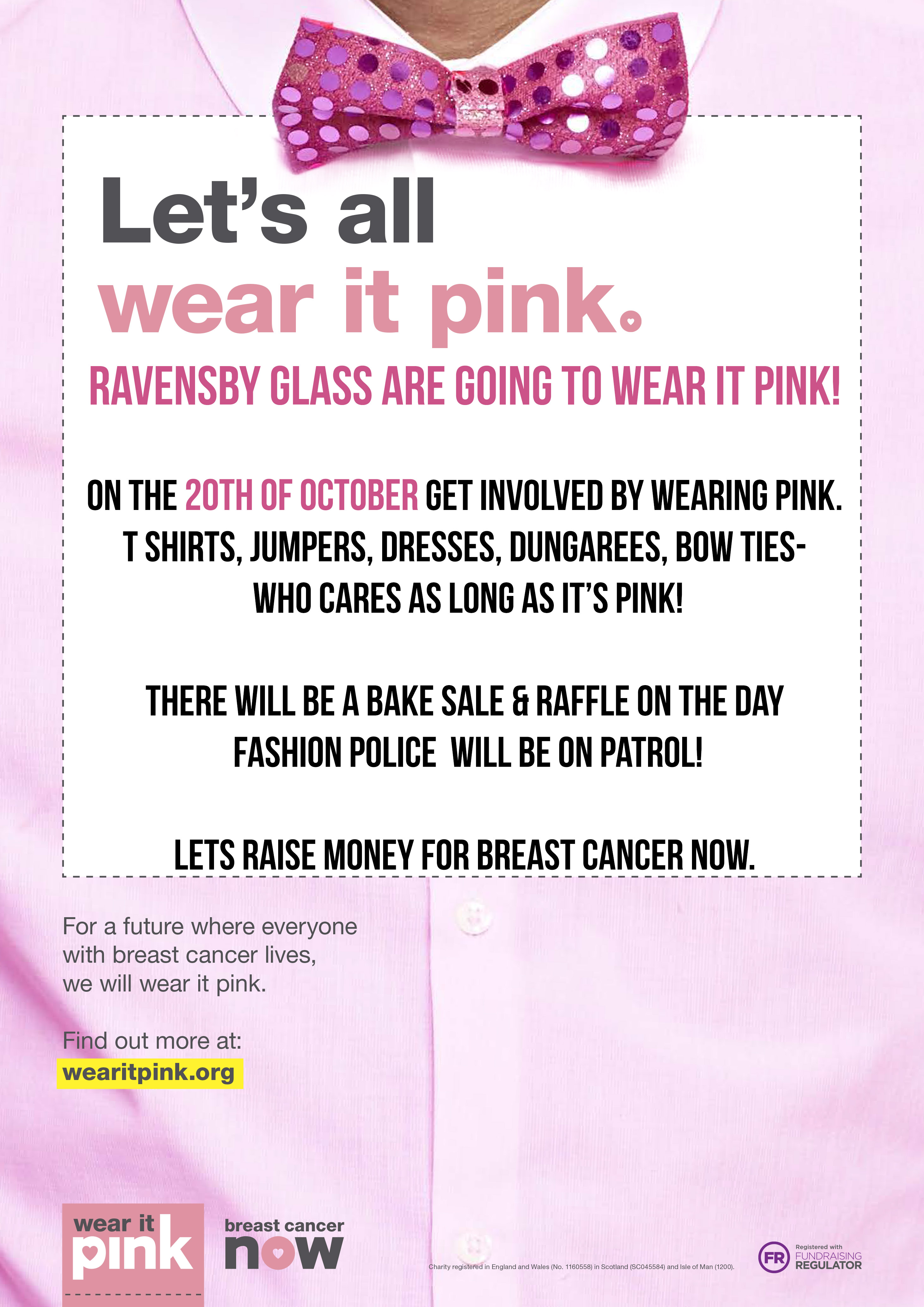 Wear It Pink 20th October 2017 Ravensby Glass Dundee