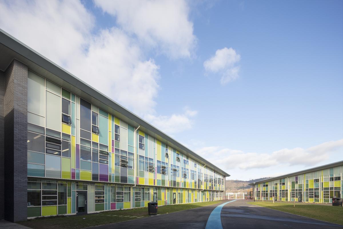 Bae Baglan School Port Talbot Ravensby Glass